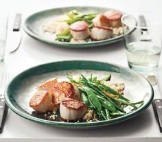 Seared Scallops With Snow Peas and Orange Recipe: Orange zest helps cut through the rich, meaty scallops in this 25-minute meal.