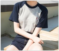 MATO - Embroidered Raglan Sleeve T-shirt US$ 7.78
