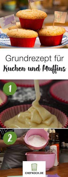 Grundrezept für Kuchen und Muffins