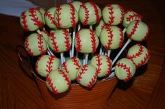 Softball Cake Pops By Becky1679 on CakeCentral.com