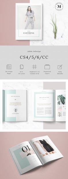 Flora Lookbook: The Flora Lookbook template is a 28 page Indesign brochure template available in both A4 and US letter size. This template is great for fashion designers, photographers, architects, food stylists, etc.