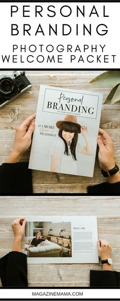 PHOTOGRAPHERS: Book more Personal Brand Photography Magazine Clients with this 12 page 8.5x11 Personal Branding Magazine Template and photographer marketing template. It is packed full with pre-written text that you can customize and use to market your personal branding photography sessions.