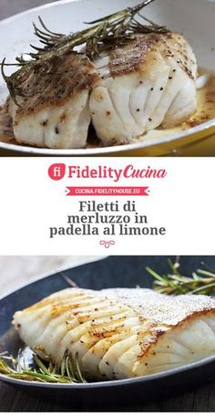 Pan-fried cod fillets with lemon - Pan-fried cod fillets with lemon The Effective Pictures We Offer You About zucchini recipes A qual - Easy Cooking, Cooking Recipes, Healthy Recipes, Italian Food Restaurant, How To Cook Fish, Fish Dishes, Light Recipes, Seafood Recipes, Finger Foods