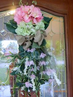 Elegant Hydrangea Door Swag  Spring/Summer by JulieButlerCreations, $85.00