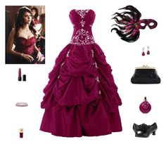 """""""Contest: Elena Gilbert Masquerade Outfit"""" by billsacred ❤ liked on Polyvore featuring Masquerade, Funtasma, Effy Jewelry, Valentino, Yves Saint Laurent, Nicka K and tvshow"""