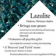 Lazulite crystal meaning                                                                                                                                                                                 More