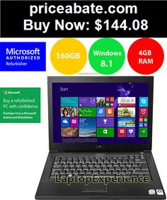 Computers-Tablets-And-Networking: Dell Laptop Latitude Windows 8.1 Core 2 Duo 4gb Ram 160GB WIFI Computer Win 8 HD - BUY IT NOW ONLY $144.08