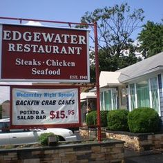 Edgewater Restaurant - Edgewater, Maryland...the BEST jumbo lump crab cakes!!!!