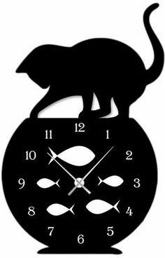 designer wall clock black: 20 thousand images found in Yandeks.Kartinki - harun nacar - - designer wall clock black: 20 thousand images found in Yandeks. Homemade Clocks, Fancy Watches, Cat Clock, Laser Art, Wall Clock Design, Wood Burning Patterns, Cat Silhouette, Wooden Clock, Scroll Saw Patterns