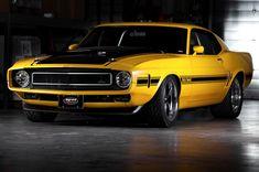 Custom Yellow Boss Mustang