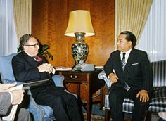 Daisaku Ikeda With then-U.S. Secretary of State Henry Kissinger at the height of the Cold War (Washington, D.C., 1975)