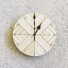 Size: Diameter, Deep *Please Note - Batteries are not included. Material Information- MDF base with Plywood Hands: Black Wooden Clock, Graphic Design Projects, Plywood, Pallets, Base, Hands, Deep, Hardwood Plywood, Wooden Watch
