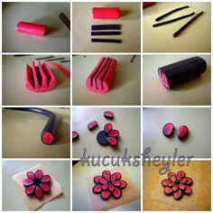 polymer clay flower tutorial - Fimo, Cernit et accessoires : http://www.creactivites.com/236-pate-polymere