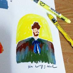 """""""오랜만에 크레파스 ✋ #illust #illustrator #illustrations #drawing #doodle #calligraphy #일러스트레이터 #일러스트 #일러스트레이터 #드로잉 #두들 #캘리그라피 #금요일 #friday #study #namecard…"""""""