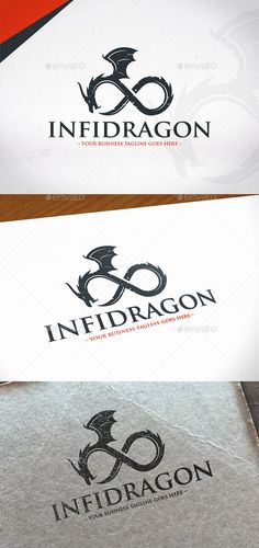 Endless Dragon Logo Template by BossTwinsMusic - Three color version: color, greyscale and single color.- The logo is 100 resizable.- You can change text and colors very easy u