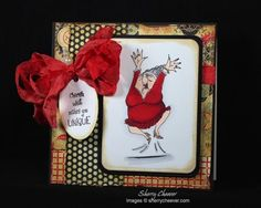 Art Impressions Ai Golden Oldies Millie.  Handmade card maybe for a birthday?