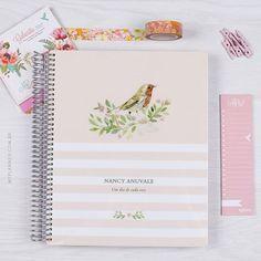 Você pode personalizar seu My Planner com seu nome, data e frase favorita! www.myplanner.com.br
