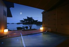 Five Onsen Inns in Tohoku with Open Air Baths Offering Fantastic Views Japanese Spa, Japanese Soaking Tubs, Japanese House, Japanese Gardens, Japanese Style, Spring Spa, Spring Resort, Japanese Hot Springs, Ideal Bathrooms