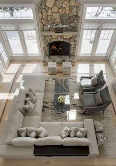15 Amazing Furniture Layout Ideas To Arrange Your Family Room 11 #arrangingLivingRoomFurnitureLayout