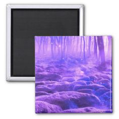 Forest Clearing 2 Inch Square Magnet