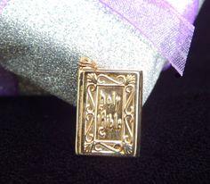 Vintage 14K Gold Holy Bible Pendant Charm - Visit my Etsy shop: www.etsy.com/shop/AyQueBella
