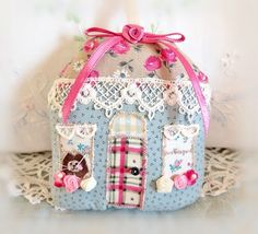 Valentine' Day Cottage Ornament 5 House Door by CharlotteStyle