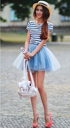 Adorable Tulle Skirt + Mini Backpack Purse! This look is so cute!