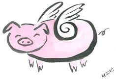 Flying Pig by Amy Crook  I like these wings