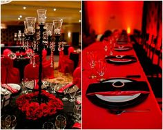 red and black rock and roll wedding