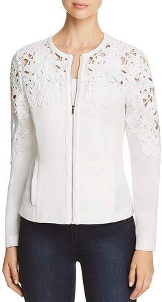 Bagatelle Womens Ivory Crochet Fashion Bomber Jacket Outerwear S BHFO 6686 for sale online Mode Hijab, Crochet Fashion, Crochet Clothes, Outerwear Jackets, Blouse Designs, Mantel, Stylish Outfits, Designer Dresses, Ideias Fashion