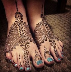 Traditional Foot Henna Design #henna #mehndi