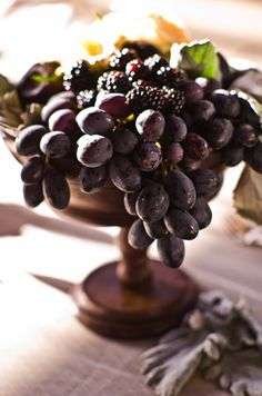 grape display ~ beautiful alternative to flowers