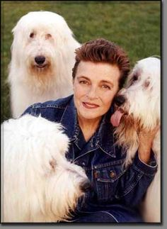 Linda McCartney and sheepies in Arizona