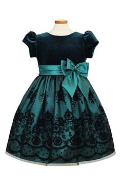 Free shipping and returns on Sorbet Cap Sleeve Party Dress (Toddler Girls & Little Girls) at Nordstrom.com. A lush velvet bodice styled with puffed cap sleeves tops a gorgeous party dress detailed with a brilliant satin skirt covered by a flower-patterned chiffon overlay and finished with a pleated satin sash and layered bows at the Empire waist.