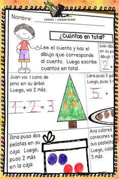 This Kindergarten Math homework in Spanish, or Kindergarten Tarea de Matematicas is the perfect spiral review. This resource is great as math morning work, math spiral review, and in math centers! Kindergarten Math Activities, Teaching Math, Glee, English Homework, Addition Words, Adding And Subtracting, 1st Grade Math, Making 10, Morning Work