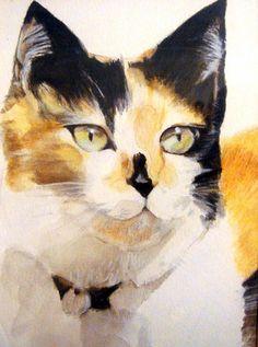 dd7a544dd2dccd9cf045626c253b3831.jpg (564×758) #CatWatercolor