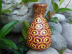 Upcycled Ceramic Bud Vase Optical Illusion by CrazieHappy on Etsy, $35.00