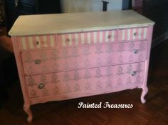 this dresser was all black I love how it turned out:)