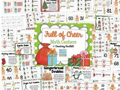This center bundle contains 10 literacy centers (in color and black and white) and 10 math centers to help your kiddos get in the Christmas spirit.  Literacy skills covered include: -Christmas cause and effect -Nouns and verbs sort -Candy cane making words -The Perfect Present writing (3 options for writing paper) -Possessive nouns -Plural nouns -Synonyms -Contractions -Long a and long e sort -ABC order  Math skills covered include: - Place value - Even and odd numbers - Greater than and ...