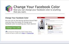 Want to change the color of your facebook? Then there is something for you to know! According to latest research 10,000 people around the world has been infected with malicious application that hooks Facebook users by telling them to shift the color schemes of their Facebook profiles.