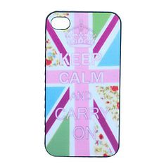 Keep Calm and Carry On Grind Arenaceous plast Tilbage Case for iPhone 4/4S – DKK kr. 26