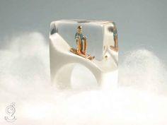 Tiny Dioramas Placed Inside Jewellery by Isabell Kiefhaber - BlazePress