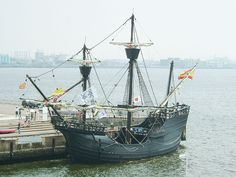 Replica of the Victoria, a nao, the only one of Magellan's five ships to return to Spain in 1522, thus becoming the first ship having circumnavigated the globe.