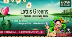 New Properties on Yamuna Expressway: Lotus Greens Enviro City on Yamuna Expressway  Location: Yamuna Expressway, Yamuna Expressway Size: 1050 Sq FT - 1450 Sq Ft Plan: 2 BHK - 3 BHK  Highlights • Vaastu Compliant • Security / Fire Alarm • Intercom Facility • 24x7 Power Backup • Reserved Parking • Swimming Pool • Lift • Service/Goods Lift • Health Club • Visitor Parking • Golf Course • Senior Citizen Park • Jogging Track • 100% power back-up