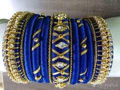 Image result for silk thread jhumkas