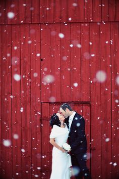 A snowy wedding