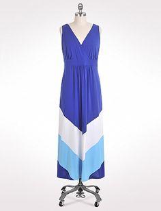 729f0120e22 Dress Barn  Plus Size Colorblock Chevron Maxi Dress Floral Lace Dress