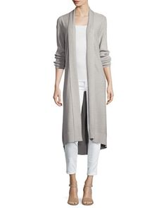 Ribbed-Knit+Duster+Cardigan,+Gray+by+Neiman+Marcus+at+Neiman+Marcus+Last+Call.