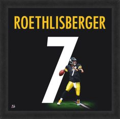 Ben Roethlisberger Framed Pittsburgh Steelers 20x20 Jersey Photo - Sports Integrity