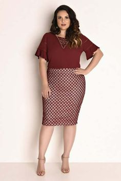 Ideas Womens Business Casual Curvy Work Clothes For 2019 Curvy Fashion, Plus Size Fashion, Girl Fashion, Fashion Dresses, Womens Fashion, Cheap Fashion, Plus Size Dresses, Plus Size Outfits, Casual Dresses For Women